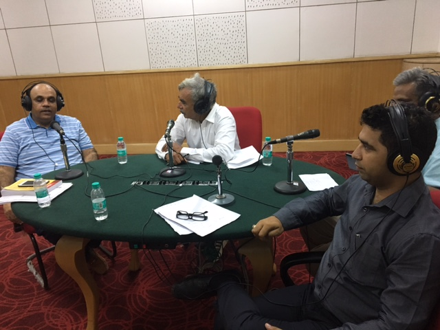 upendra gupta in a radio show for gst